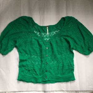 Free People Crochet Crop cardigan top